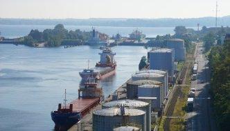 Die Schleusenanlage Kiel-Holtenau am Nord-Ostsee-Kanal