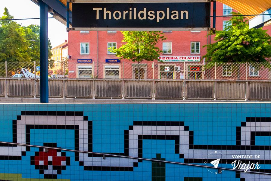 Metro em 8 bits - Estacao Thorildsplan em Estocolmo