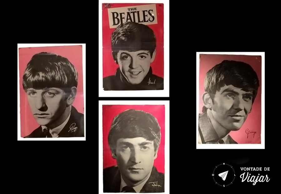 Liverpool Beatles - Ringo Paul George John garotos de Liverpool