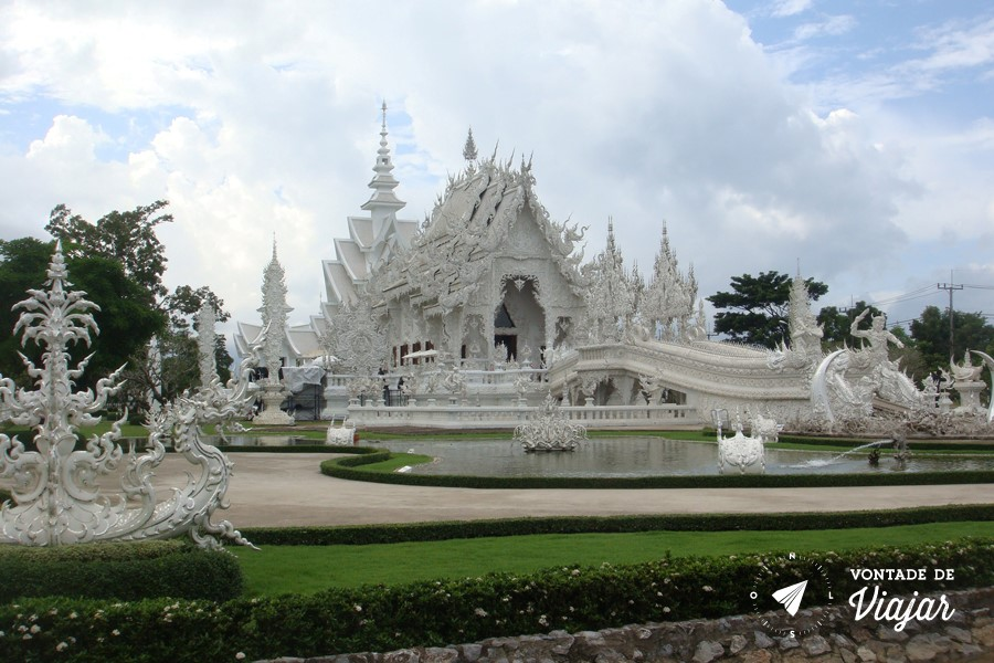 Templo Branco na Tailandia - White Temple em Chiang Rai