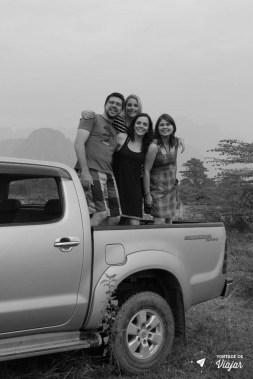 Vang Vieng Laos - Picape passeio de balao