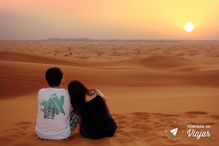 Dubai - por do sol no deserto (blog Vontade de Viajar)