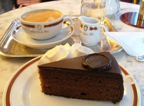 Cafe - a torta original do cafe Sacher em Viena