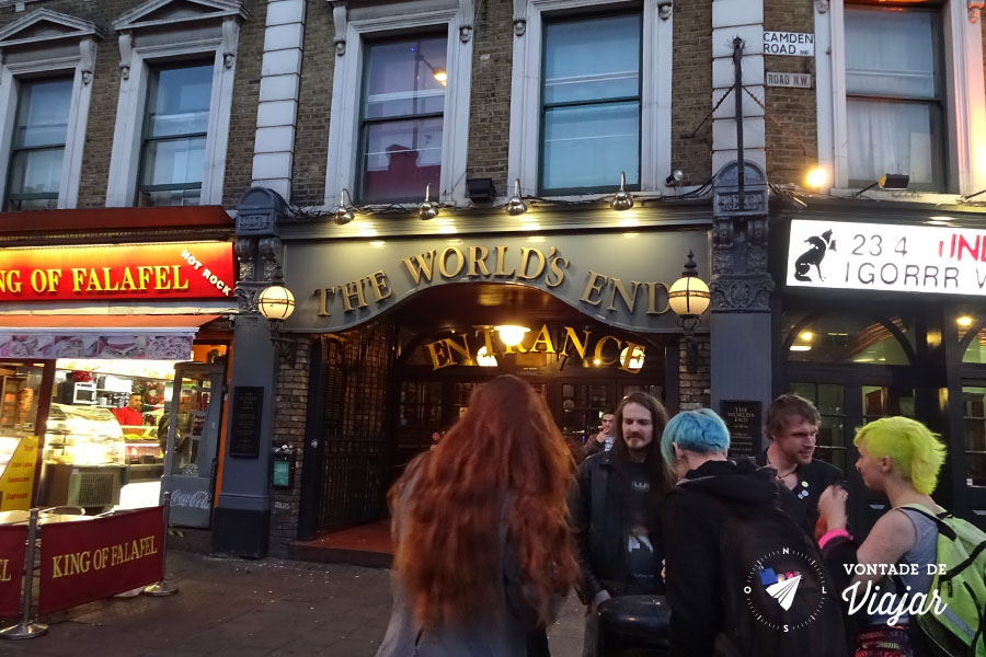 Camden - Pub The Worlds End e The Underworld (foto do blog Vontade de Viajar)
