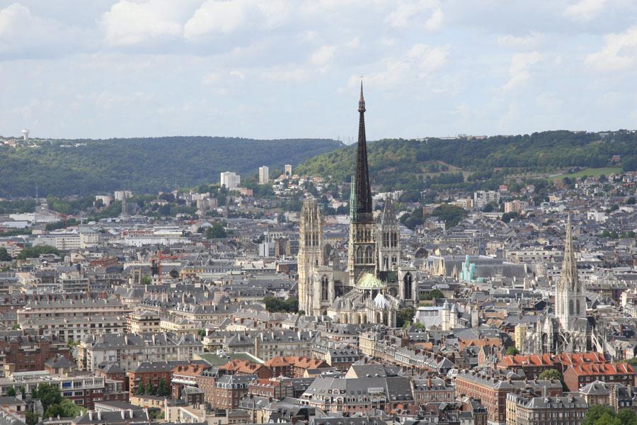Normandia - vista de Rouen - foto gasdub