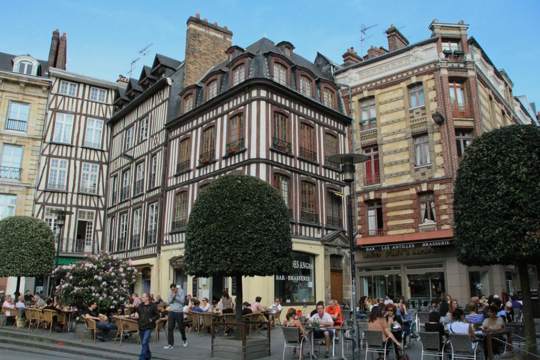 Rouen - Arquitetura colombage - Foto Antonio Ponte