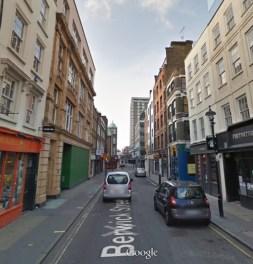 A rua da foto no Google Street View