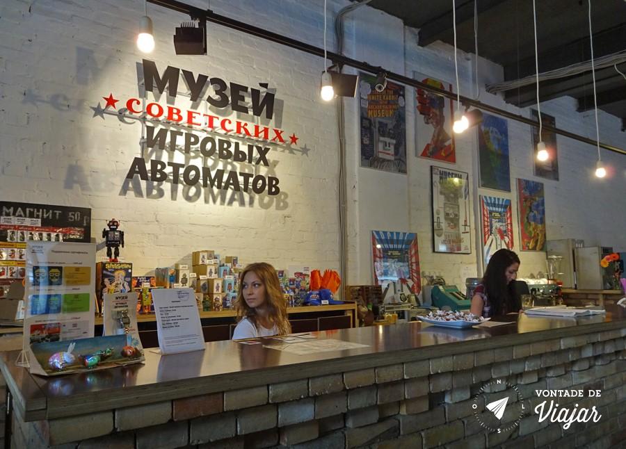 Museu do Arcade em Moscou - Entrada do fliperama sovietico