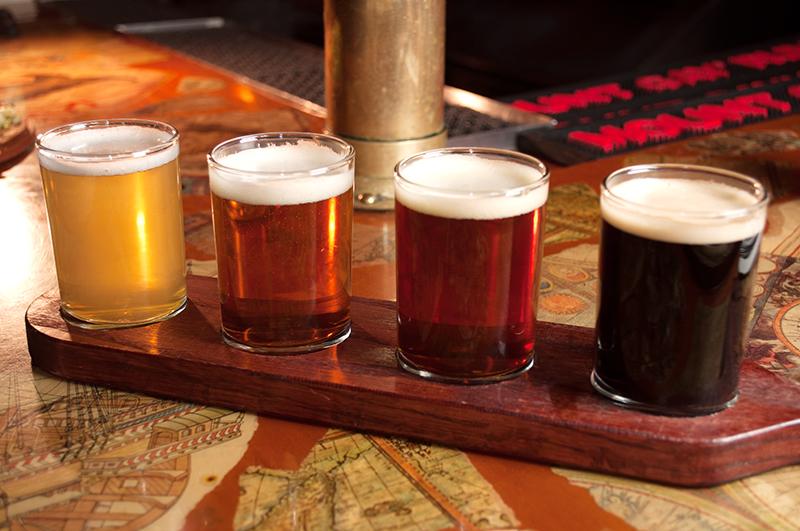 Cervejas de Chicago - Degustacao Grandview Chicago Beer Flights