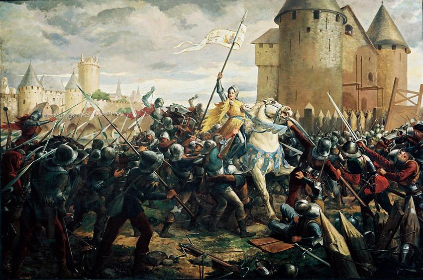 Franca - Joana DArc capturada em Compigne em 1430