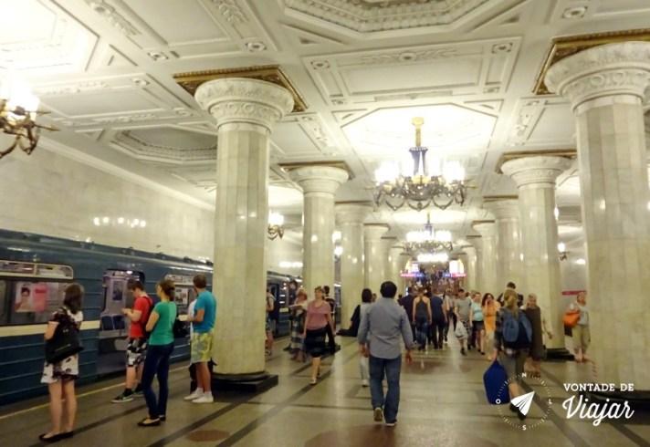 Sao Petersburgo - Estacao de metro - dicas de viagem no blog Vontade de Viajar