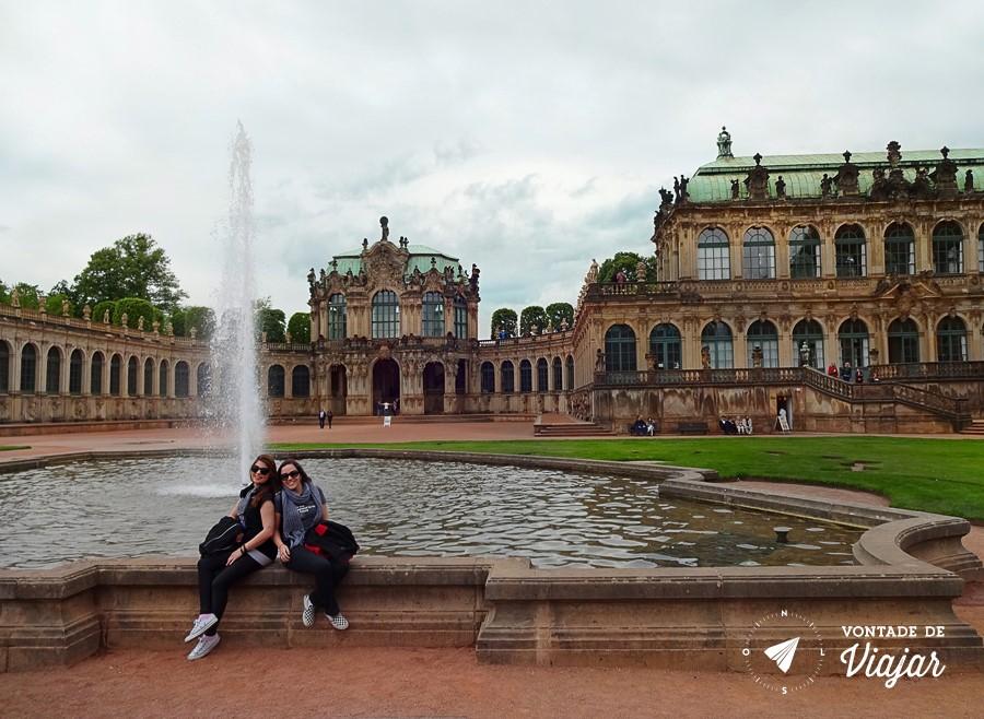 Dresden - Fonte no jardim do Dresdener Zwinger