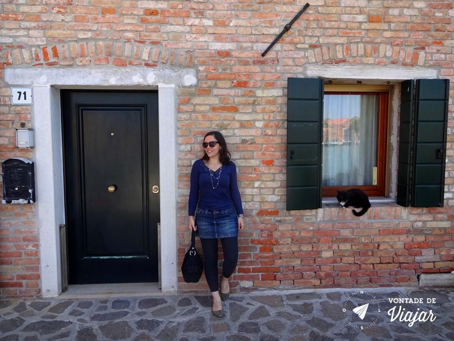 Ilhas de Veneza - Casa de tijolos em Murano