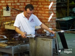 Ilhas de Veneza - Demonstracao numa fabrica de vidros