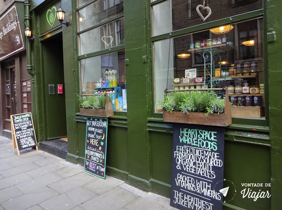 Dundee Escocia - Loja de comida organica Heartspace Exchange Street