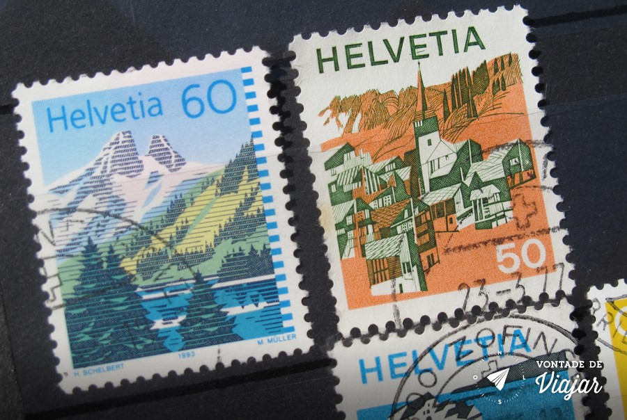Colecao de selos - Selos da Suica