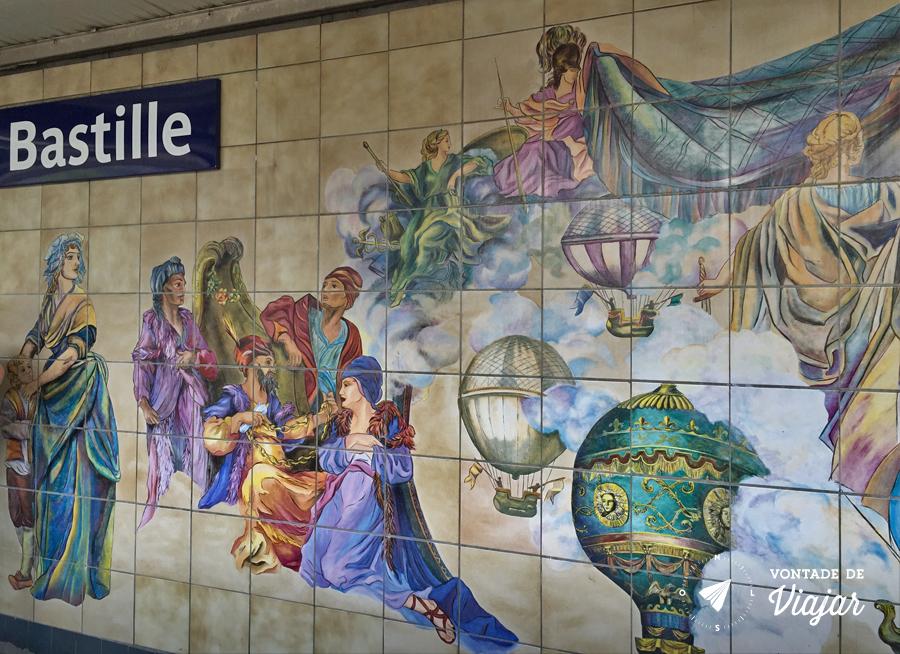 Metro de Paris - Estacao Bastille