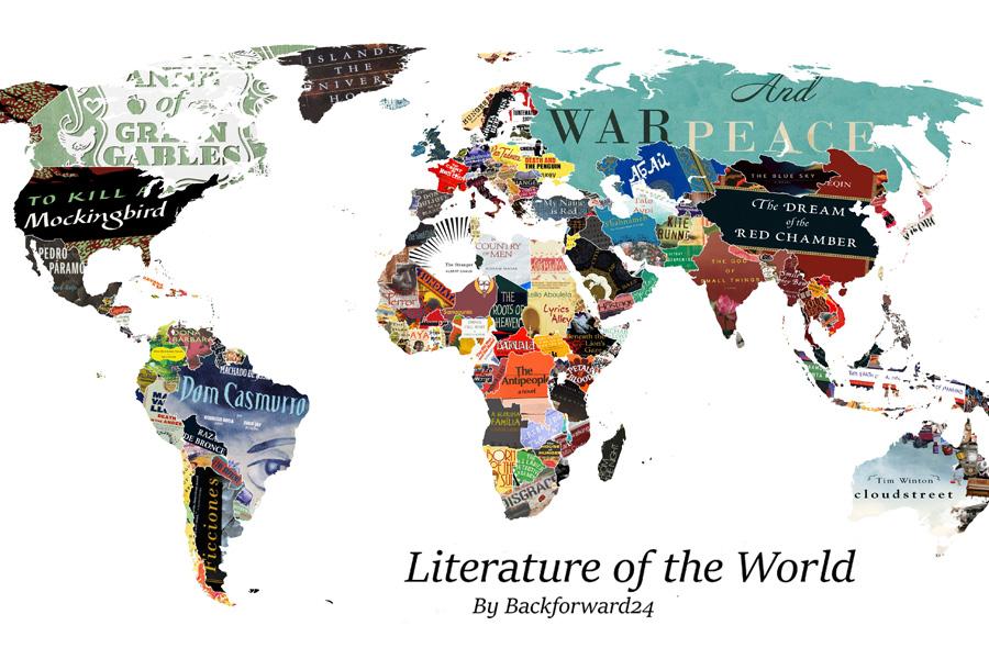 Mapa Literario - Livro de cada pais - Backforward24