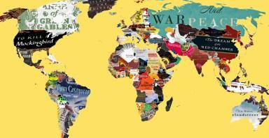 Mapa Mundi Literario - Livro de cada pais - Backforward24 - Amarelo