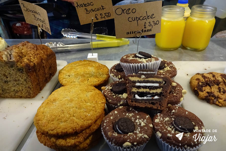 Shoreditch Londres - cupcake de Oreo no Attendant Cafe