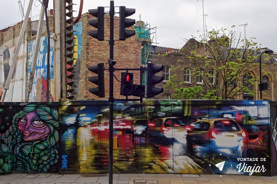Street art em Londres - arte urbana East London