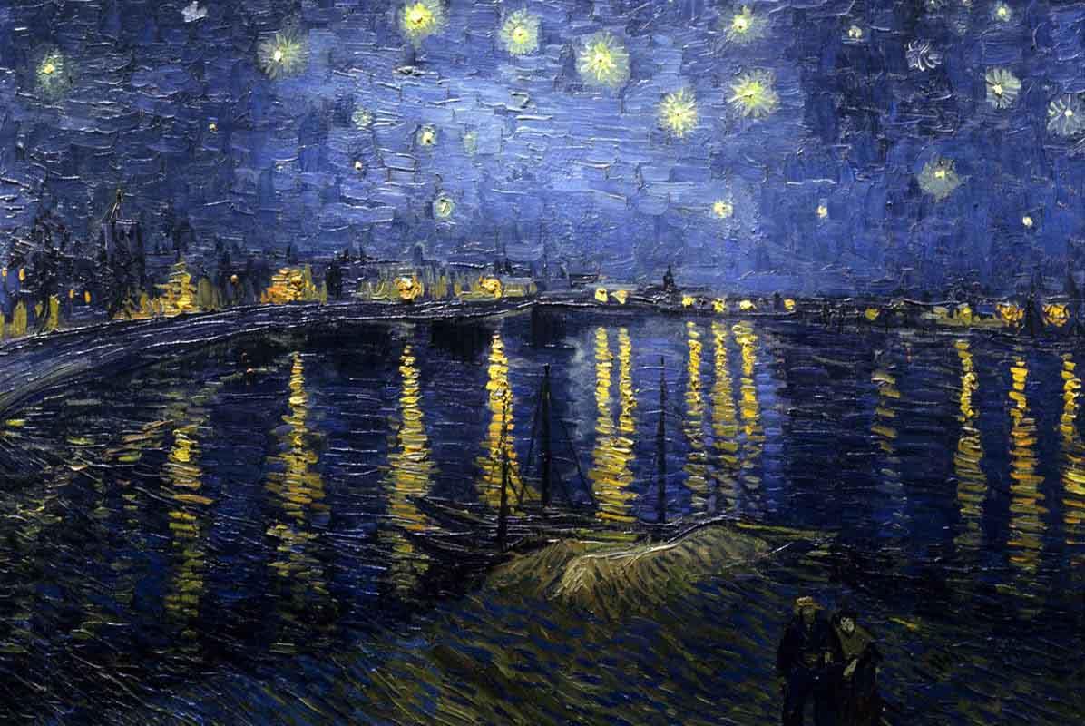 Van Gogh em Arles - Noite Estrelada sobre o rio Rodano 1888 - Museu dOrsay