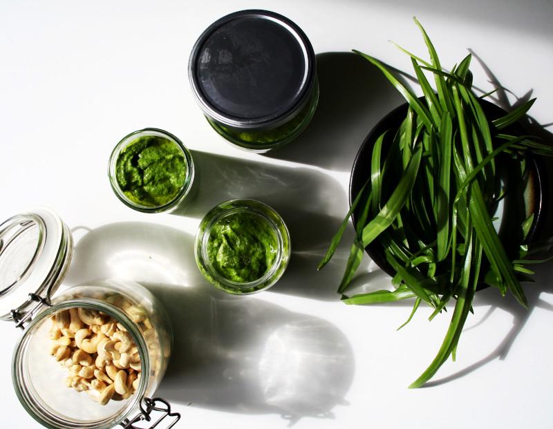 Bärlauchpesto mit Cashewnüssen vegan Rezept