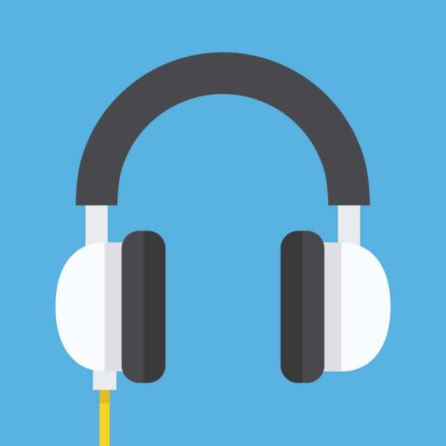 Ilustração de um fone de ouvido.