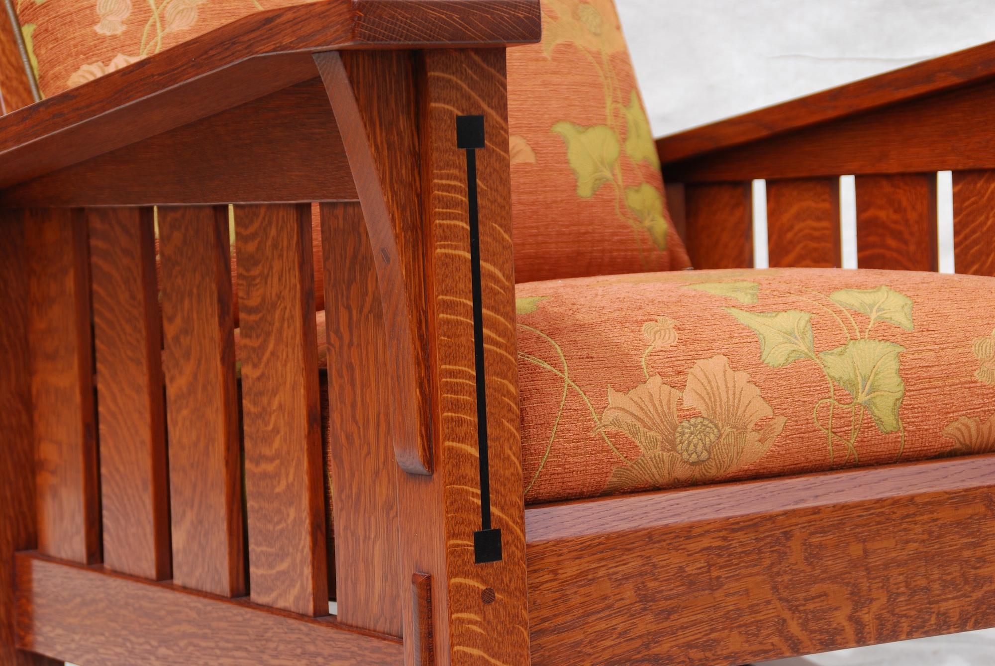 Voorhees Craftsman Mission Oak Furniture  Slant Arm