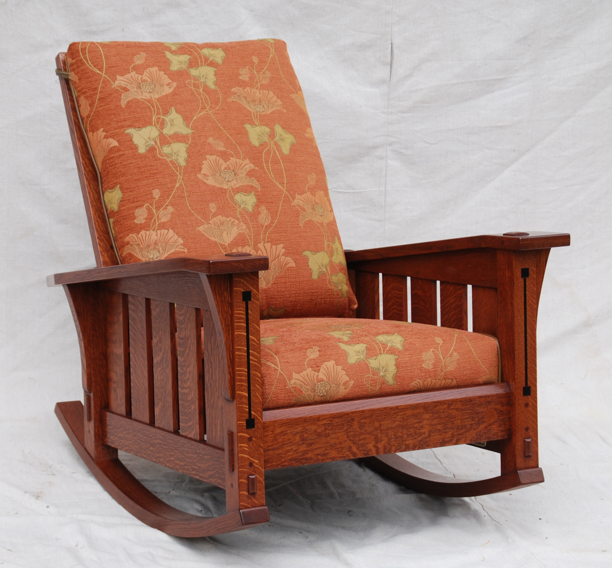 Mission Style Chairs Voorhees Craftsman Mission Oak Furniture Slant Arm