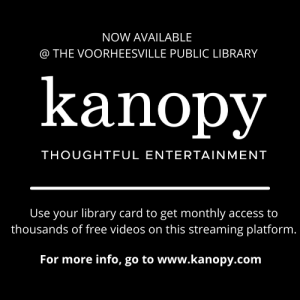 Kanopy. Thoughtful Entertainment. This streaming platform is now available with your library card.