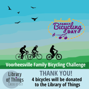 Thank you for hashtagging! The Voorheesville Public Library will soon have 4 Bicycles in our Library of Things!