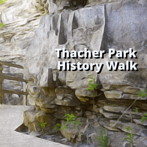Image of a rock formation at Thacher park