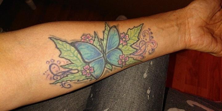tattoo vlinder
