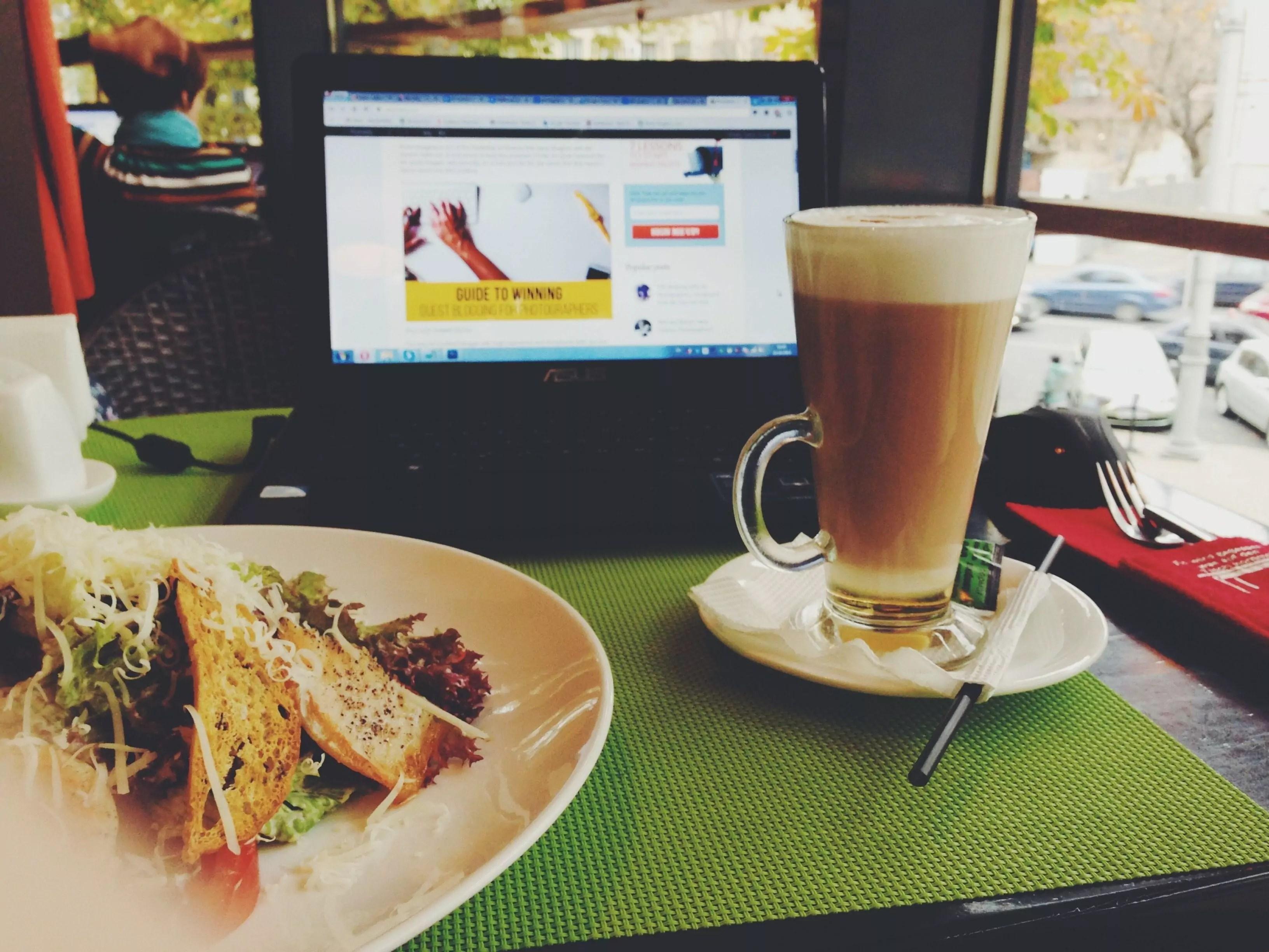 koffie laptop