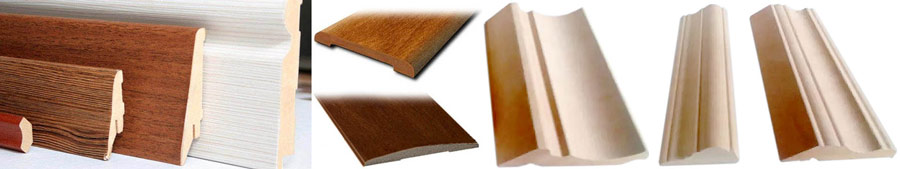 Plinthes de revêtement de sol et planches à platine, propices à la baguette pour la peinture