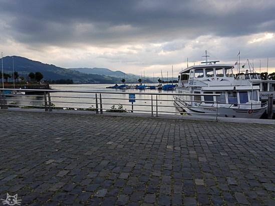 Nach ca 7,5 km Spaziergang bin ich am Ziel. Ich setze mich an den Hafen und gönne mir ein Eis