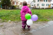 auch draussen dürfen Luftballons hängen, damit die Gäste zu uns finden
