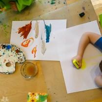nach dem Essen gibt es den Kreativschub bei den Kindern