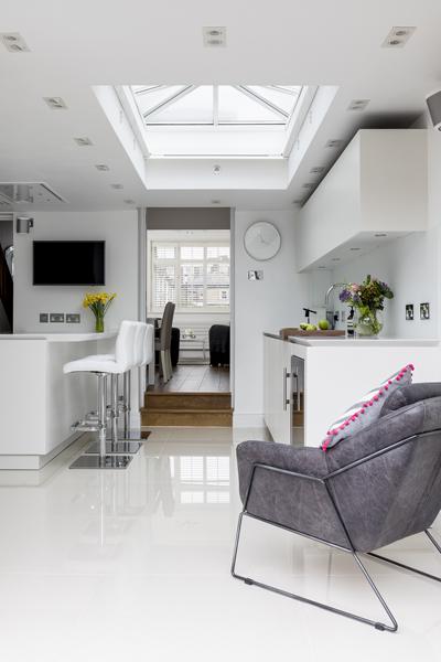 0605 roof lantern kitchen extension west london