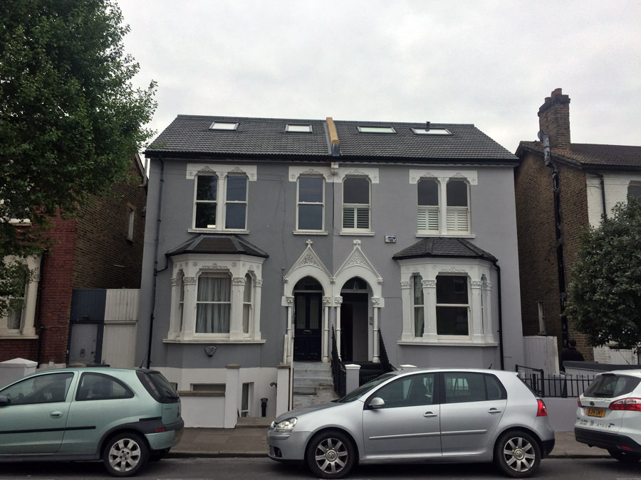 0631 grey facade of balham semi detached house