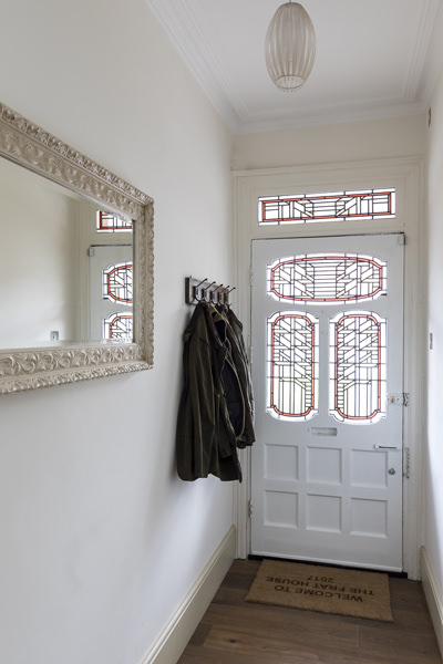 647 entranced hall with white door and stained glass in west london