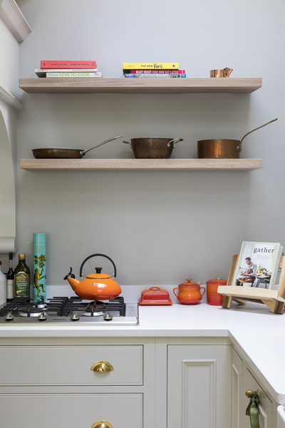 647 neptune shaker style grey kitchen and creuset pans in london