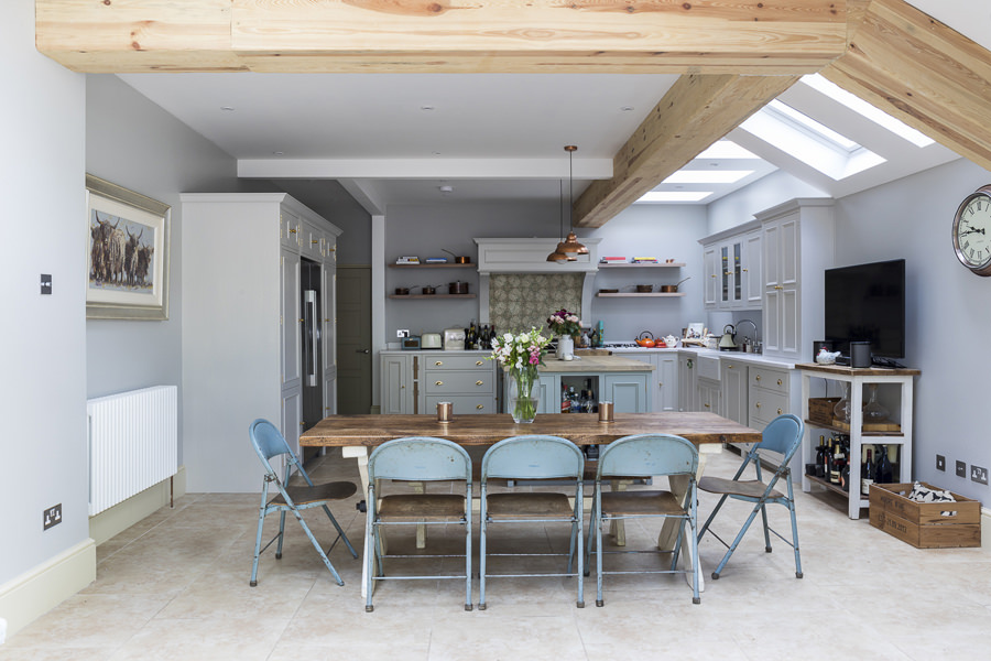 647 rustic country cottage dining room in extension in west london