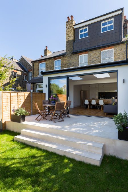 0558 Full width rear extension to terraced house in Surbiton