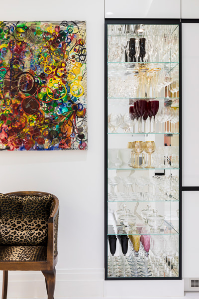 0587 bespoke cabinet for glasses artwork by Crystal Fischetti in London apartment