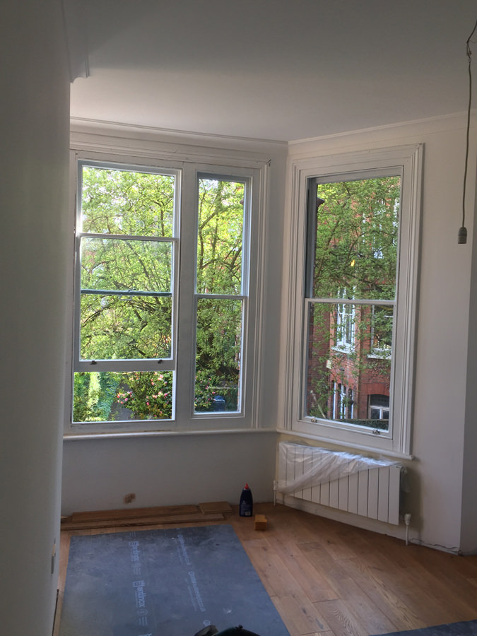 0736 change of bay window in a classic london property