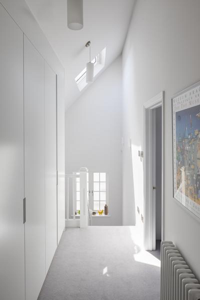 0776 loft floor storage in hallway with roof lights in west hampstead