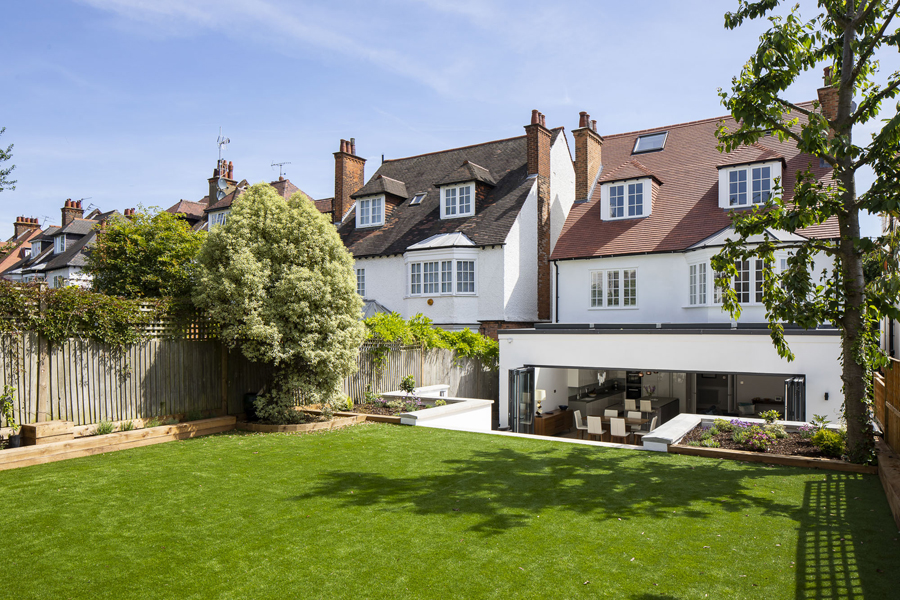 0776 back garden landscaping in west hampstead NW6 London detached house