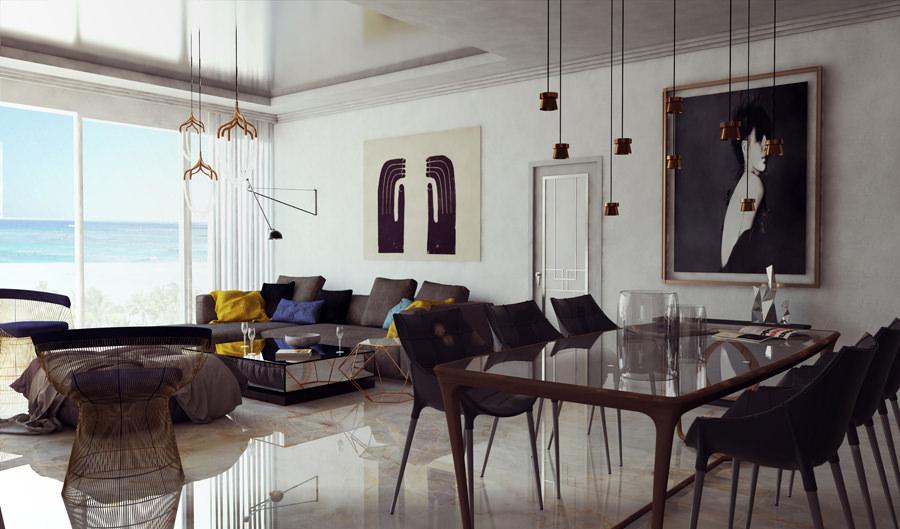 Un salon classique et bourgeois